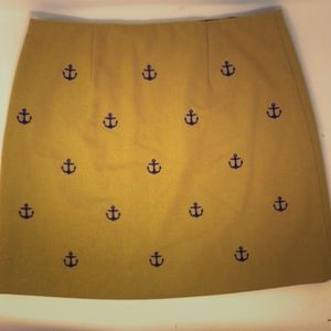 vineyard vines Mustard Yellow Anchor Skirt